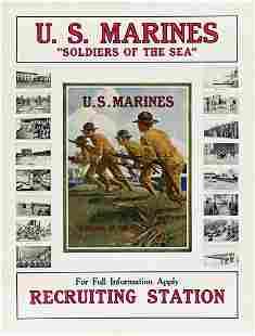 """BRUCE MOORE (1905-1980). U.S. MARINES / """"SOLDIERS OF"""