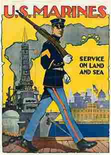 SIDNEY H. RIESENBERG (1885-1972). U.S. MARINES /