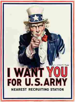 JAMES MONTGOMERY FLAGG (1870-1960). I WANT YOU FOR