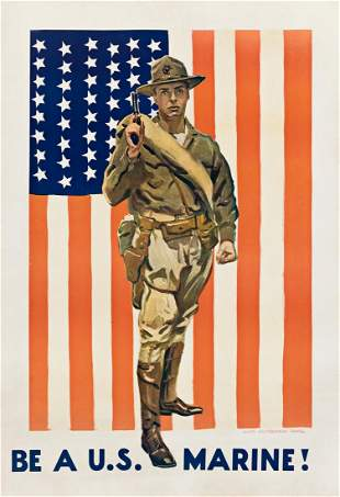 JAMES MONTGOMERY FLAGG (1870-1960). BE A U.S. MARINE!