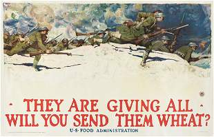 HARVEY DUNN (1884-1952). THEY ARE GIVING ALL / WILL