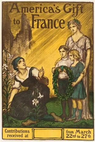 ALBERT STERNER (1863-1946). AMERICA'S GIFT TO FRANCE.