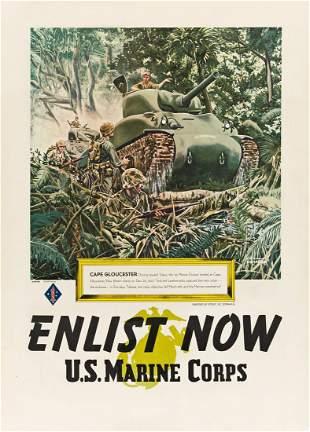 VIC DONAHUE (1918-2008). ENLIST NOW / U.S. MARINE