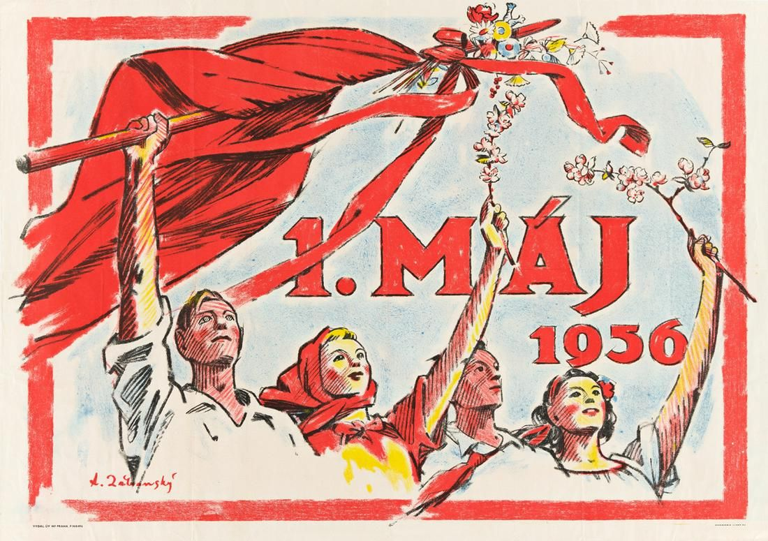 VARIOUS ARTISTS. [CZECH.] Group of 4 posters. 1950s.