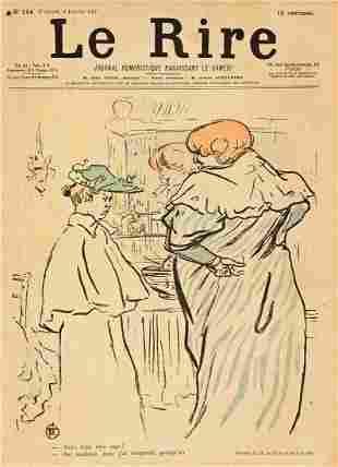 HENRI DE TOULOUSE-LAUTREC (1864-1901). LE RIRE. Group