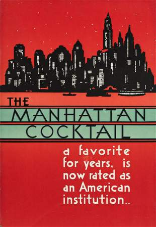 DESIGNERS UNKNOWN. [COCKTAILS / MANHATTANS.] Group of