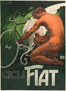 PLINIO CODOGNATO (1878-1940).  CICLI FIAT. Circa 1910.
