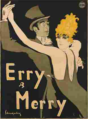 WALTER SCHNACKENBERG (1880-1961). ERRY & MERRY. 1912.