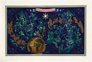 LUCIEN BOUCHER (1889-1971). AIR FRANCE / [ZODIAC MAP.]
