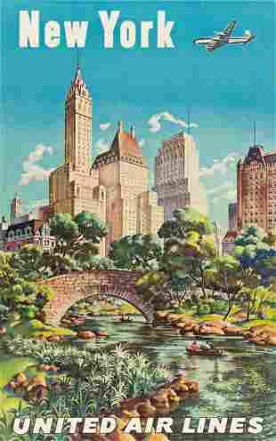 JOSEPH FEHER (1908-1987). NEW YORK / UNITED AIR LINES.