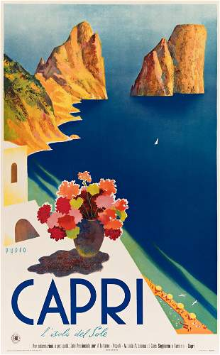 MARIO PUPPO (1905-1977). CAPRI / L'ISOLA DEL SOLE.