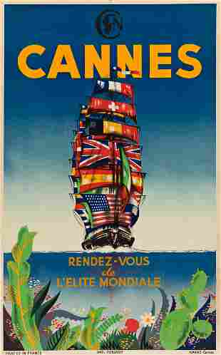 VARIOUS ARTISTS. CANNES. Two posters. Each