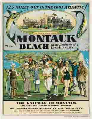 DESIGNER UNKNOWN. MONTAUK BEACH. Circa 1929. 25½