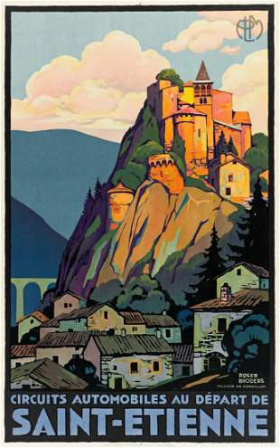 ROGER BRODERS (1883-1953). SAINT - ETIENNE / VILLAGE