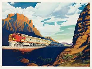 VICTOR BEALS (1895-1975). SANTA FE / [TRAIN.] 17¼