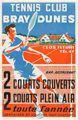 VARIOUS ARTISTS. [TENNIS & GOLF.] Group of 7 posters.