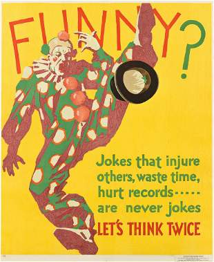 DESIGNER UNKNOWN. FUNNY? / LET'S THINK TWICE. 1929.