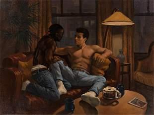 DENI PONTY Lovers on a Sofa.