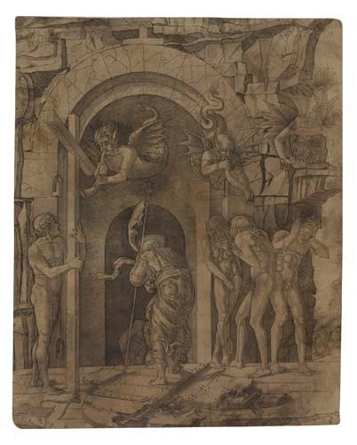 2042002: ANDREA MANTEGNA (circle of) Descent to Hell.