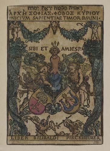 2042008: ALBRECHT DÜRER Pirckheimer Bookplate.