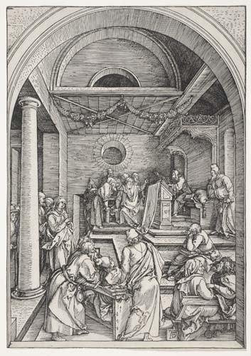 2042015: ALBRECHT DÜRER Christ among the Doctors.