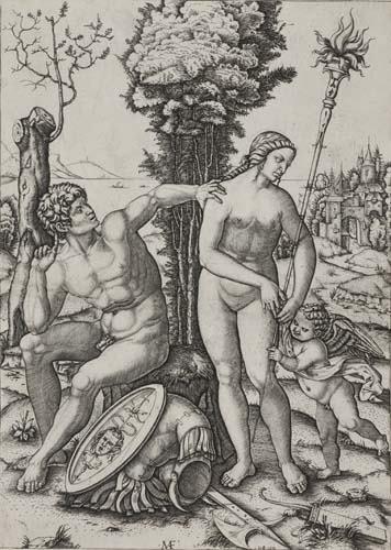 2042022: MARCANTONIO RAIMONDI Mars, Venus and Cupid.