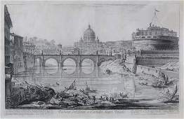 2042093: GIOVANNI B. PIRANESI Veduta del Ponte e Castel