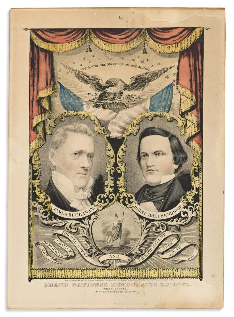 (PRESIDENTS--1856 CAMPAIGN.) Nathaniel Currier. James