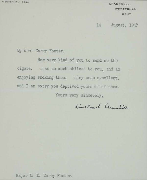 2043021: CHURCHILL, WINSTON. Typed Letter Signed,