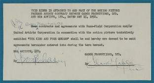 2043098: GABLE, CLARK. Typed Document Signed,