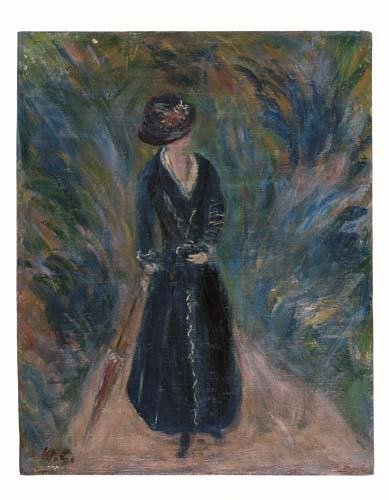 2046021: WILLIAM GLACKENS Woman with a Parasol