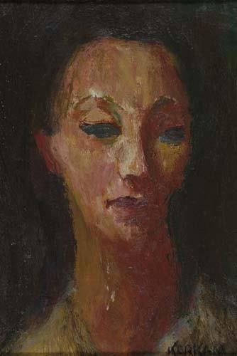 2046141: EARL KERKAM Three oil paintings on canvas boar