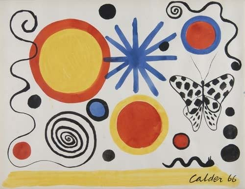 2046202: ALEXANDER CALDER Composition with Circles, Spi