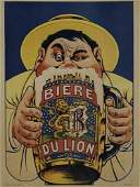 2048067: Poster BIERE DU LION. 31x23 inches. Pichot, Pa