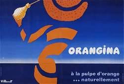 2048479 Poster BERNARD VILLEMOT ORANGINA 1977 61x89