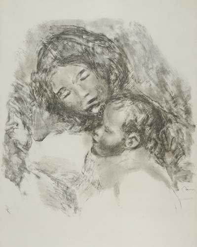 2049003: PIERRE-AUGUSTE RENOIR Maternité, grande planch