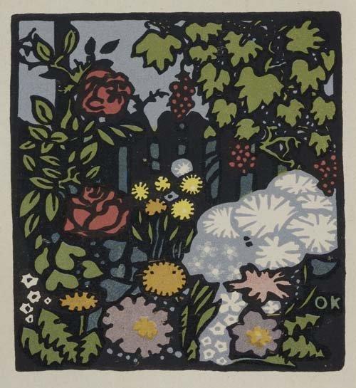 2049016: OSKAR KOKOSCHKA Blumengarten.