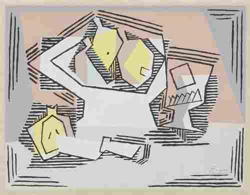 PABLO PICASSO (after) Cubist Composition: Stil