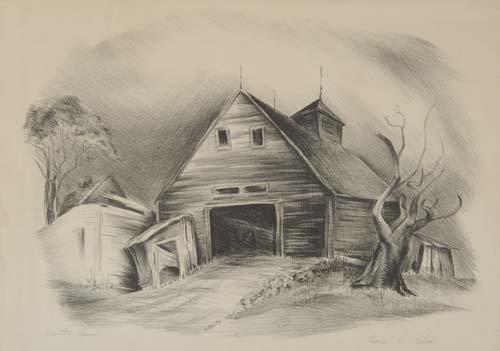 2049108: CHARLES H. ALSTON Deserted Barn.