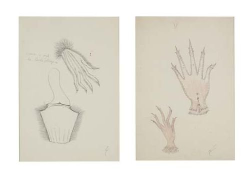 2049229: LEONORA CARRINGTON Two drawings.