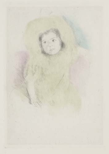 2049230: MARY CASSATT Margot Wearing a Bonnet.
