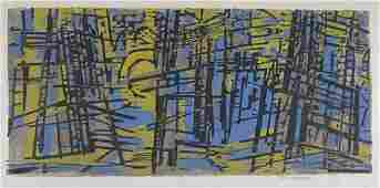 2049325 WERNER DREWES Two color woodcuts