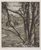 LUIGI LUCIONI Collection of 70 etchings.