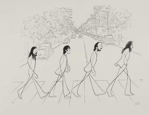 2050001: AL HIRSCHFELD. Abbey Road