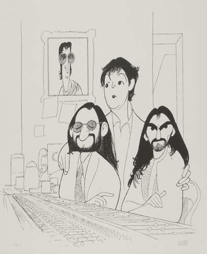 2050015: AL HIRSCHFELD. Beatles 2000