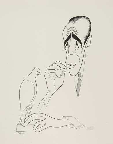 "2050022: AL HIRSCHFELD. Humphrey Bogart, ""The Maltese F"