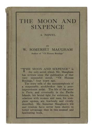 2051209: MAUGHAM, WILLIAM SOMERSET. The Moon and Sixpen
