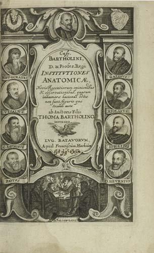 2052023: BARTHOLIN, CASPAR. Institutiones anatomicae.