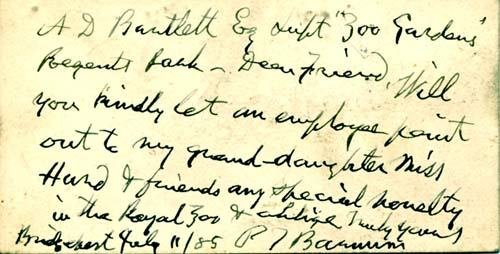 2054023: BARNUM Phineas Taylor (1810-1891). Autograph N