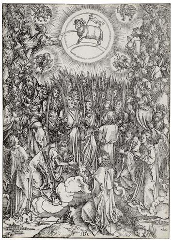 2055004: ALBRECHT DÜRER The Adoration of the Lamb.